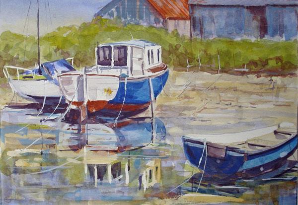 Boats at Shelly Gut.