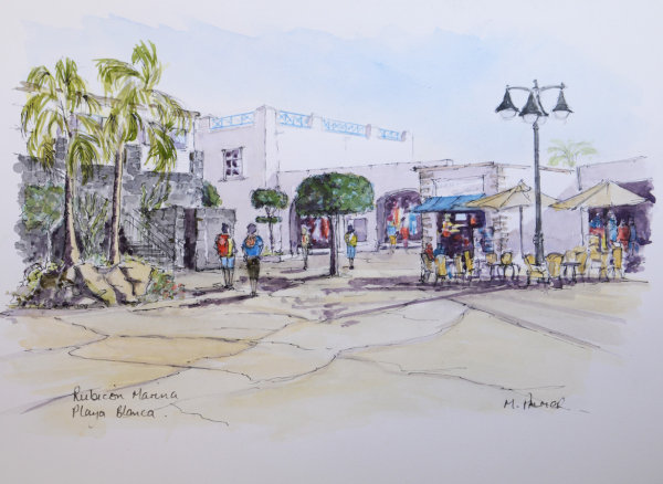 Rubicon Marina shops: Playa Blanca