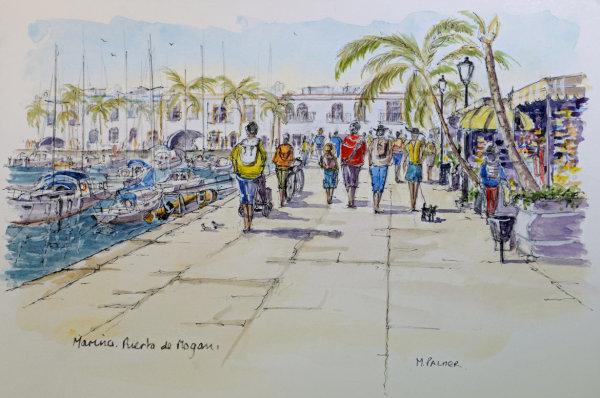 Marina Cafes : Puerto de Mogan