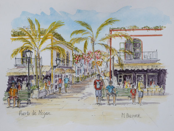 View from Town Square: Puerto de Mogan