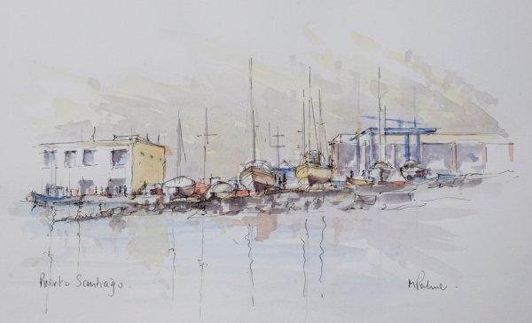 Boats. Playa de Santiago, La Gomera