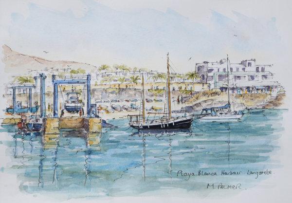 Working Harbour. Playa Blanca. Lanzarote