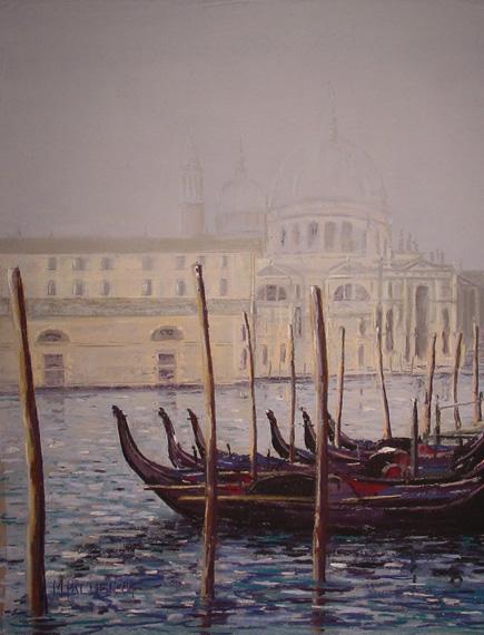 Venice, misty blue.