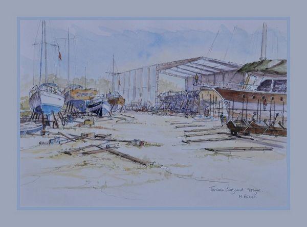 Fethiye. Tersane Boatyard.