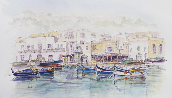 Restaurants in Mgarr Harbour. Gozo
