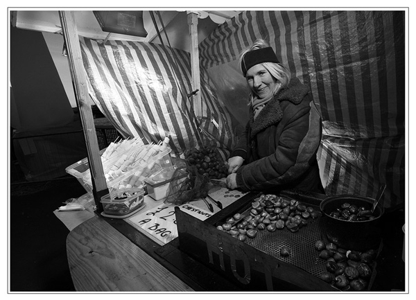 Chestnut seller