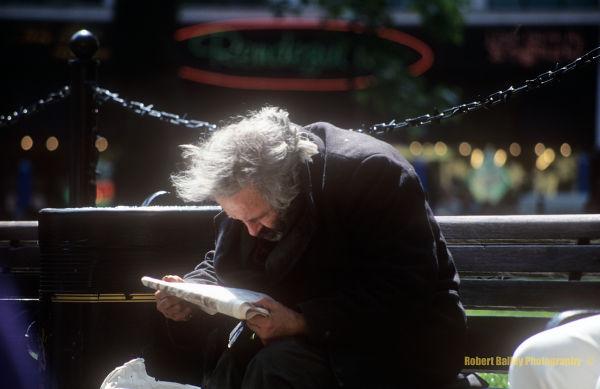 Man on bench series - part II