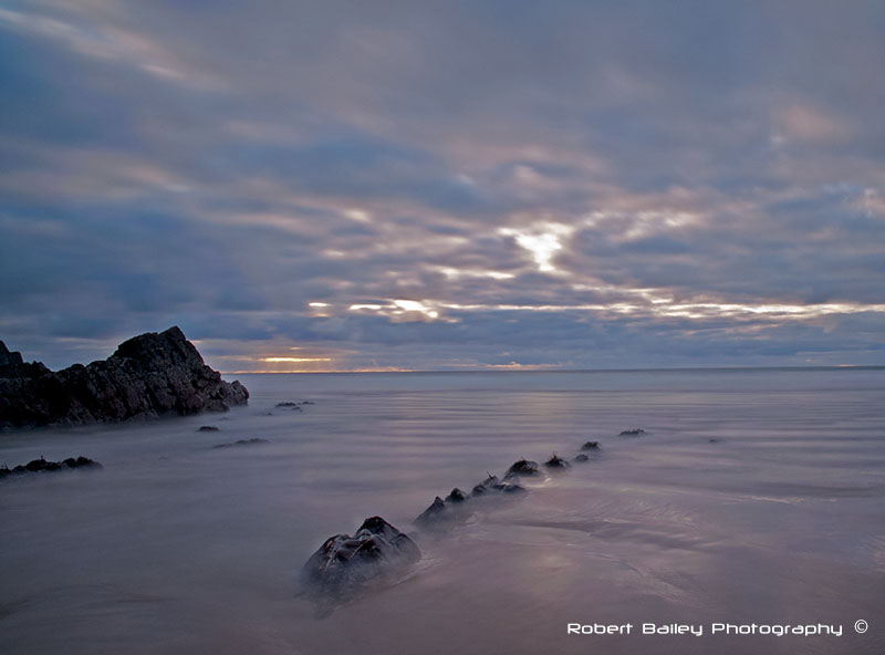 A beach in north Devon