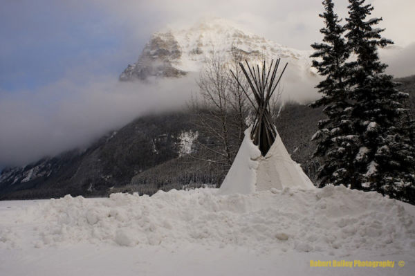 Winter teepee