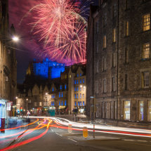 Fireworks over the Grassmarket