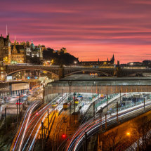 Waverley Station at Twilight