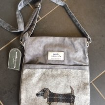 Earth Squared Wool & Cord Bag - Grey Dog