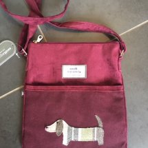 Earth Squared Wool & Cord Bag - Plum Dog