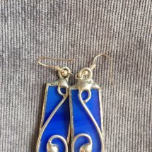 Hand Made Stained Glass Earrings