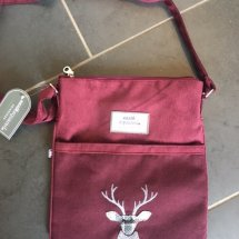 Earth Squared Wool & Cord Bag - Plum Deer