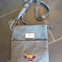 Earth Squared Wool Bag - Grey Highland Cow