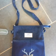 Earth Squared Wool & Cord Bag - Navy Deer