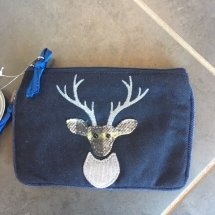 Earth Squared Wool & Cord Purse - Navy Deer