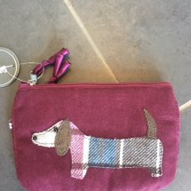 Earth Squared Wool & Cord Purse - Plum Dog