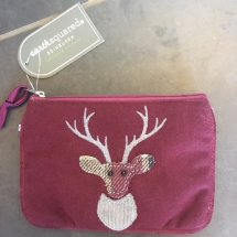 Earth Squared Wool & Cord Purse - Plum Deer
