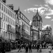 Busy day on The Royal Mile