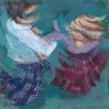 """Spin"" Greetings Card by Janet McCrorie"