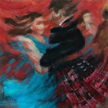 """Ceilidh"" Greetings Card by Janet McCrorie"