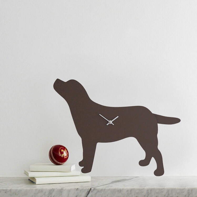 Brown Labrador Clock