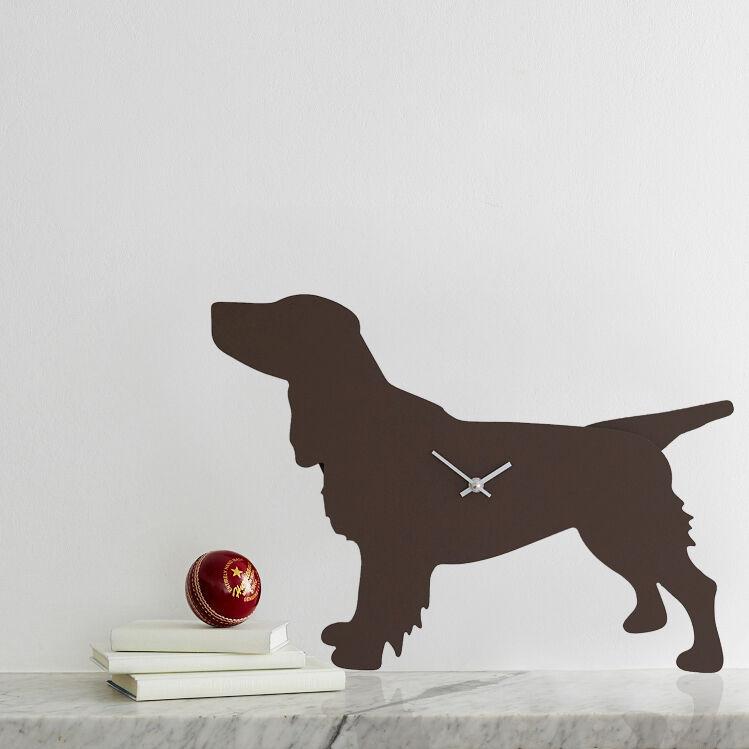 Brown Spaniel Clock