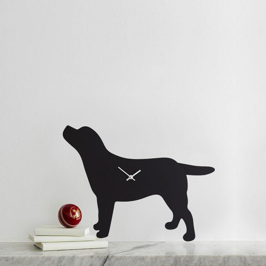 Black Labrador Clock