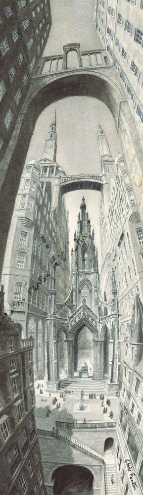 2020 - Edinburgh Cityscape - Walter Scott Monument