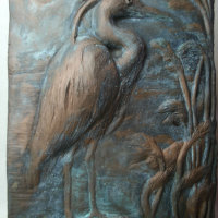 Heron Plaque