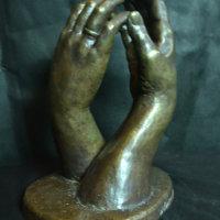 bronze hands