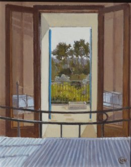 "Bedroom balcony, Mallorca 8""x10"" (SOLD)"