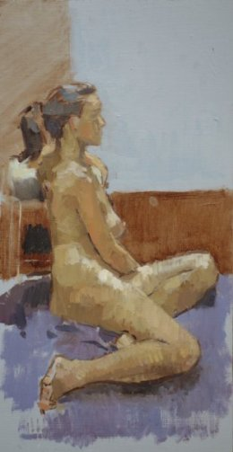 "Charlotte 6""x12"" oil on board"