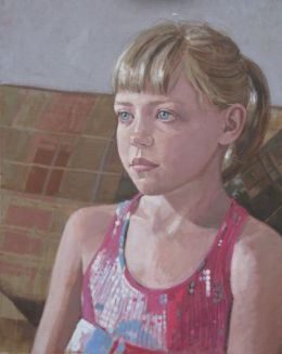 "Sophie oil on canvas 20""x 16"" (SOLD)"