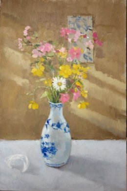 """'The featherweight vase' oil on board 12""""x 8"""""""