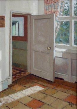 "'Dining room' 14""x 12"" oil on panel"