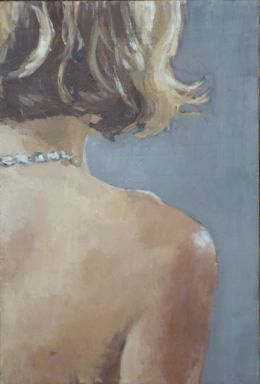 "The antique necklace 4""x 6"" oil on gesso (SOLD)"