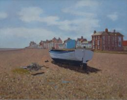 "Fishing boat, Aldeburgh 16""x 20"" oil on board"