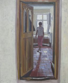 """Girl in silver shoes 20""""x24"""" oil on canvas (SOLD)"""