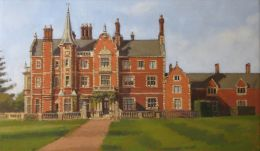 """Taverham Hall School 18""""x 12"""" oil on canvas"""