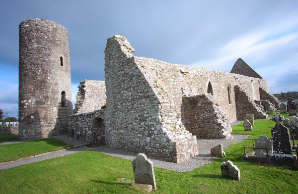 drumlane abbey in summer