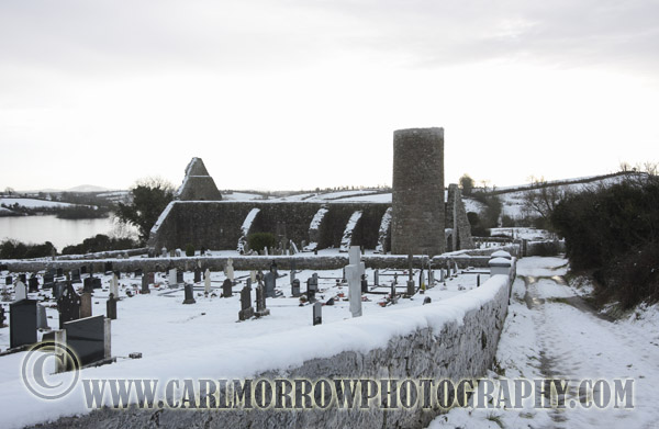 Drumlane Abbey In Winter, Milltown, County Cavan, Ireland.