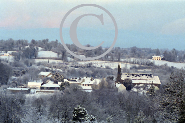 Winter view of Milltown Village, County Cavan, Ireland