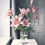 Pink Lilies - Original Oil on Canvas