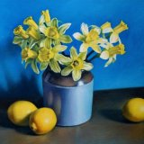 Daffodils and Lemons - Original Oil on Canvas