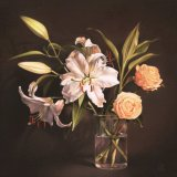 Lilies and Roses - Original Oil on Canvas