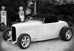 Retro style Hot Rod, Hackberry, AZ