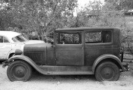 Rusted elegance, Ford Model A Sedan, Hackberry, AZ